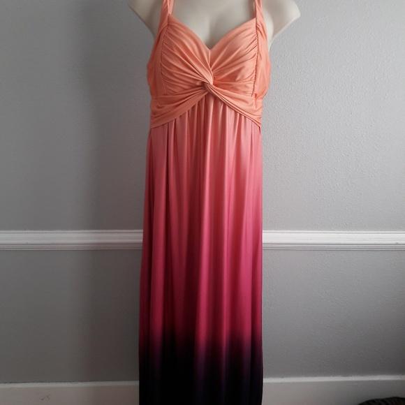 Maurices Plus Size Ombre Maxi Dress Size 20/22